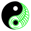 yin yang grøn